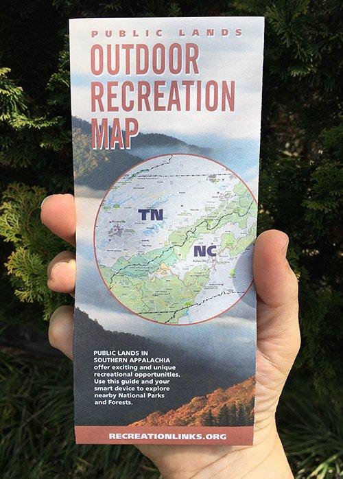 Outdoor Recreation Map in hand